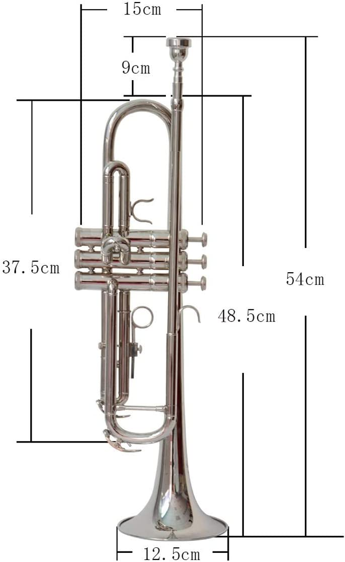 Beautiful Tone Good voice Brass Material good life. Suitable For Beginners Solo And Band Performances Key Of #A BB Silver Trumpet ZHIC Performance Level Professional Standard Trumpet