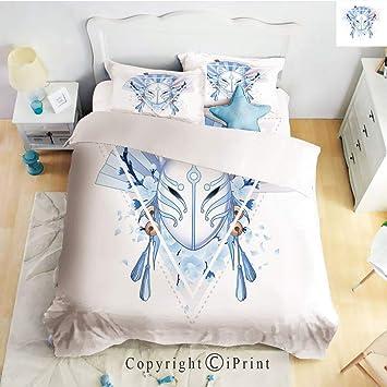 Amazon com: Homenon Luxury 4-Piece Bed Sheet,Hide Zipper