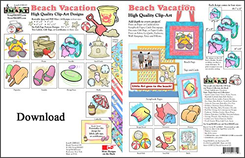 ScrapSMART - Beach Vacation - Clip Art Software Collection - Jpeg & PDF files for Mac [Download]