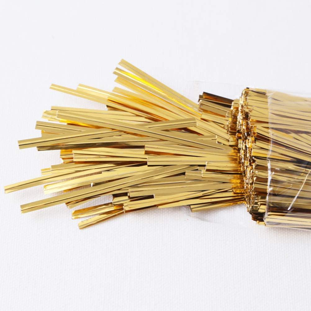 Toyvian Metallic Twist Ties Gold Bread Candy Bag Lazos Fiesta Envoltura de Regalos Sellador 800 Piezas