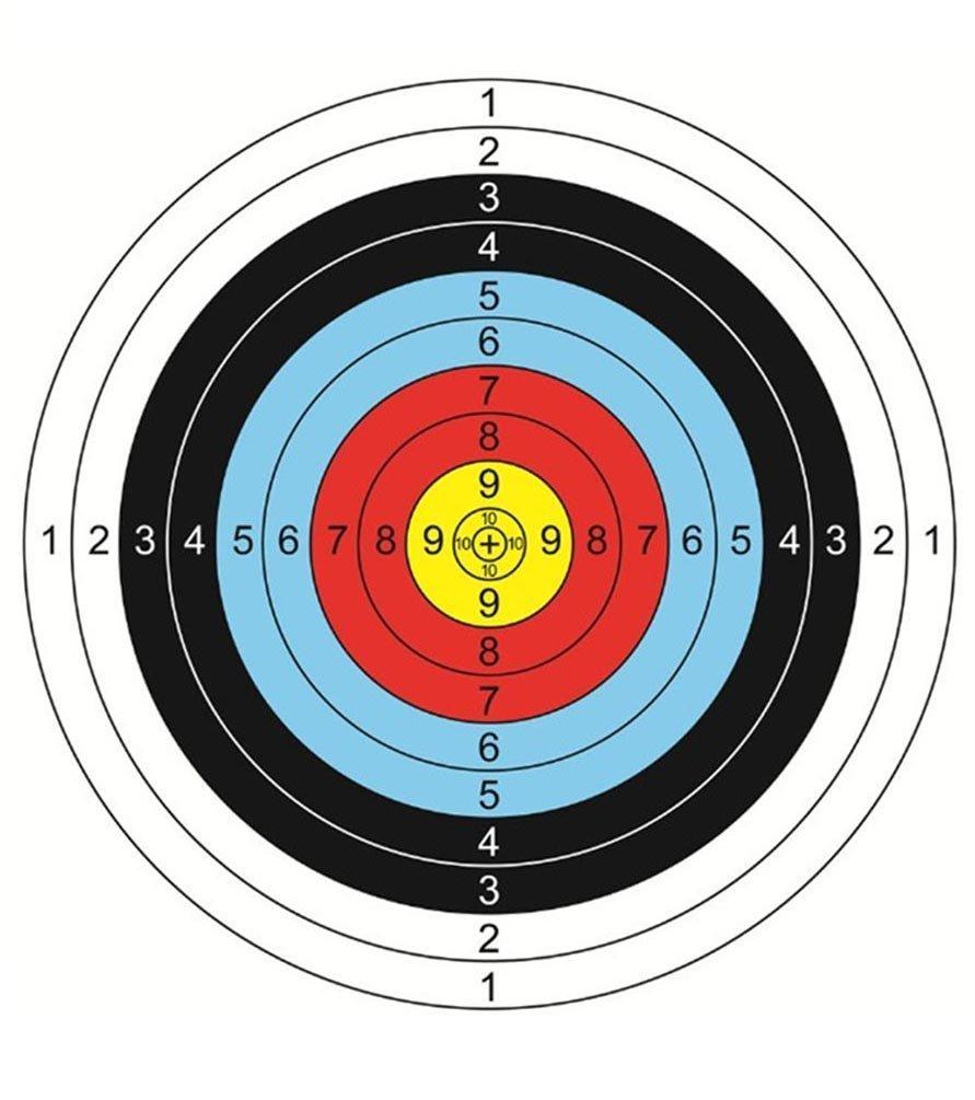 qr-rich 30pcs 16 x 16インチ矢印ターゲットシューティングターゲットアーチェリー用紙アクセサリー理想的なアーチェリー愛好家に一致、日常練習使用アウトドアの撮影練習初心者 B07FJMCRYD