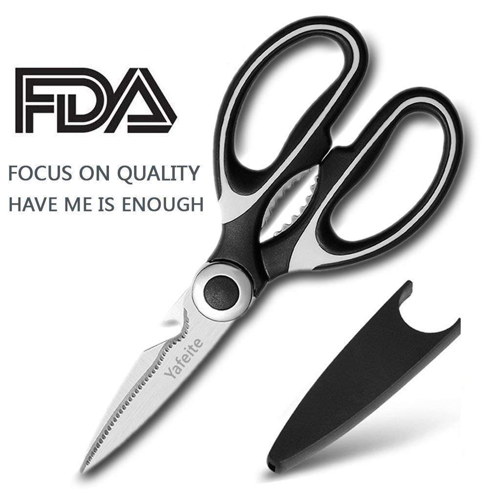 Kitchen Shears, Catnee Multifunctional Heavy Duty Kitchen Scissors - Ultra Sharp Stainless Steel Shears for Chicken, Poultry, Fish, Vegetables and BBQ