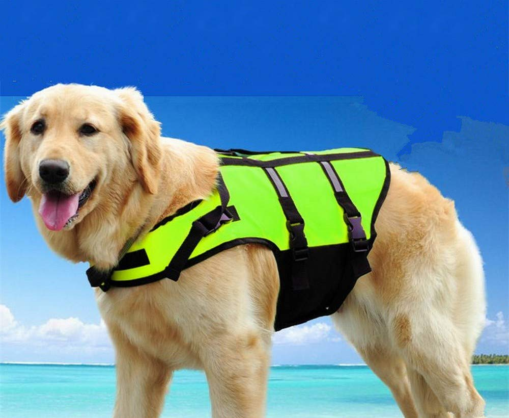 Life Jackets For Dogs - Dog Life Jacket - Dogs Life Jacket - Pet Dog Life Jacket Safety Clothes Life Vest Collar Harness Saver Pet Dog Swimming Preserver lothes Summer, Sport, Waterproof, Pool. by Flyingpets