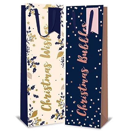 Tallon - 12 Bolsas de Lujo para Botellas de Navidad - Bolsas ...