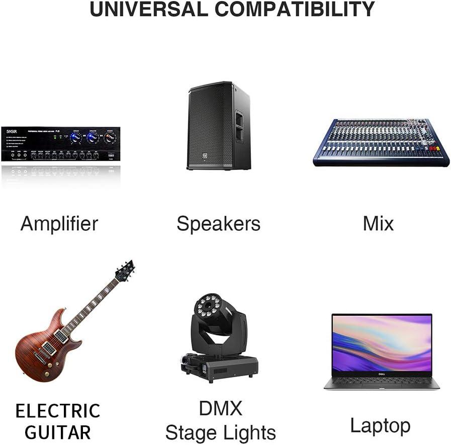 DISINO USB Guitar Cable,USB Male to 6.35mm 1/4 TS Mono Electric ...