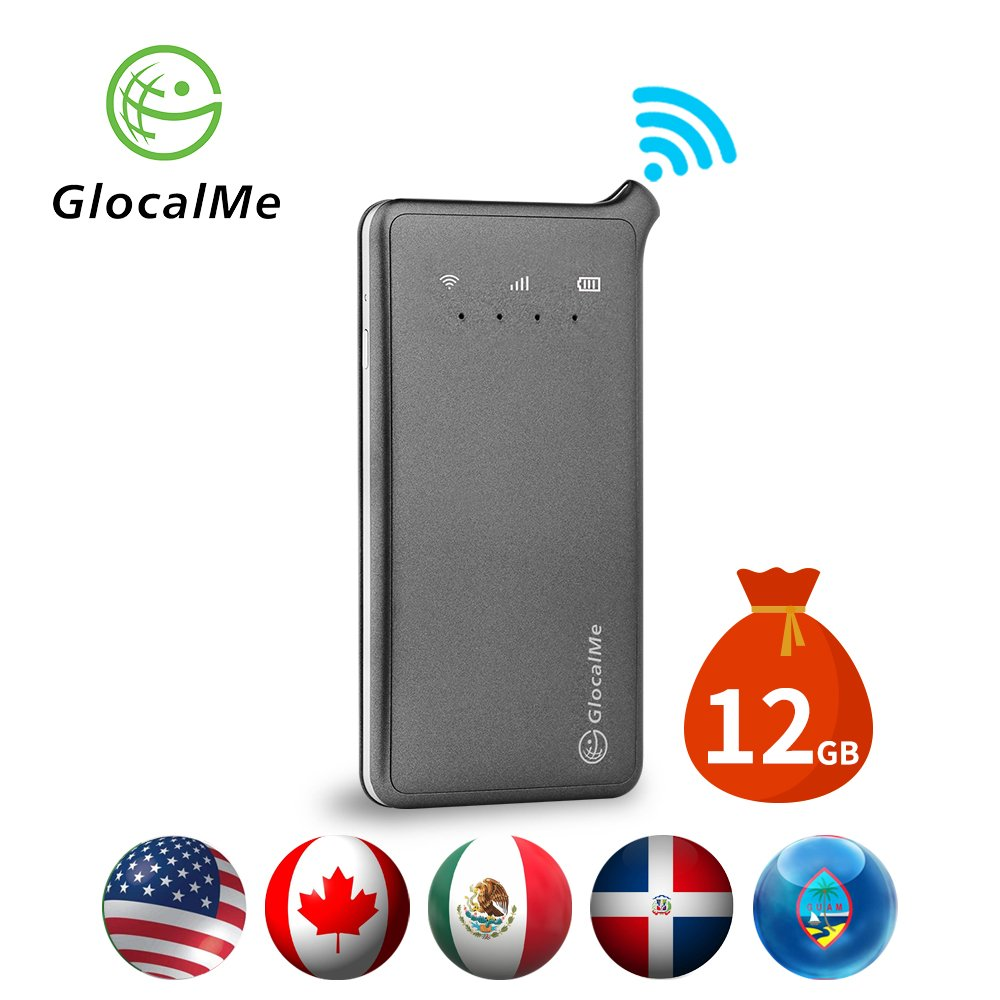 GlocalMe U2 4G Mobile Hotspot - WiFi Hotspot with 12GB Data for North America, The Dominican Republic and Guam
