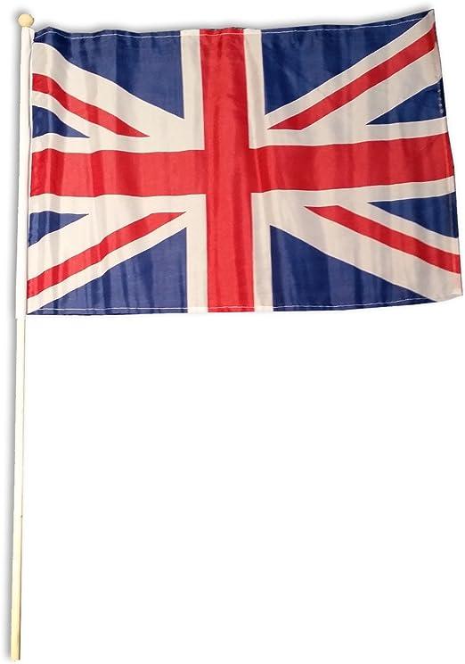 Union Jack en un Palo de Madera - Bandera Británica del Reino ...