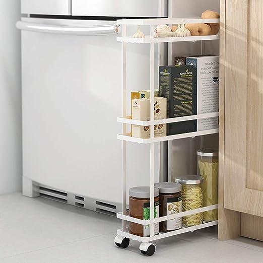 Carro de almacenamiento delgado de 3 niveles for baño y cocina ...