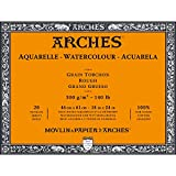 Arches Watercolor Paper Block, Rough, 18'' x 24'', 140 pound