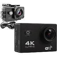 【高画質フルHD】アクションカメラ WiFi搭載 4K ブラック