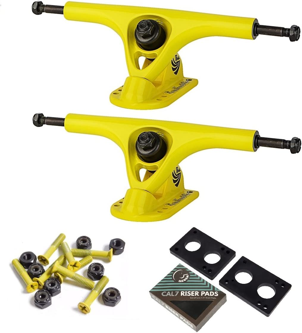 2 trucks 150mm Skateboard Trucks Steel with Risers and Mounting Hardware