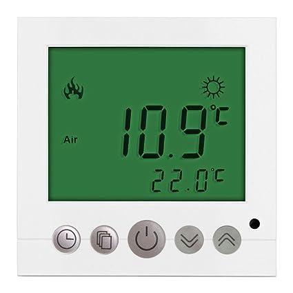 GH3 7 días programables Calefacción Termostato Con Pantalla Lcd PC AC 85 –