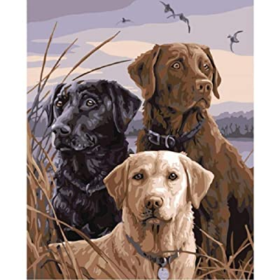 Jigsaw Puzzle 1000 Piece Wooden Puzzle Three Labrador Dogs Family Decorations, Unique Birthday Present Suitable for Teenagers and Adults 29.5x20in: Toys & Games