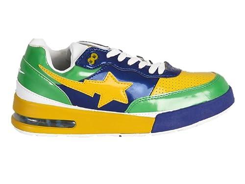 023e8af136c4 Bapesta Bathing Ape Bape Sneakers-Yellow Green Navy (12.5)  Amazon ...