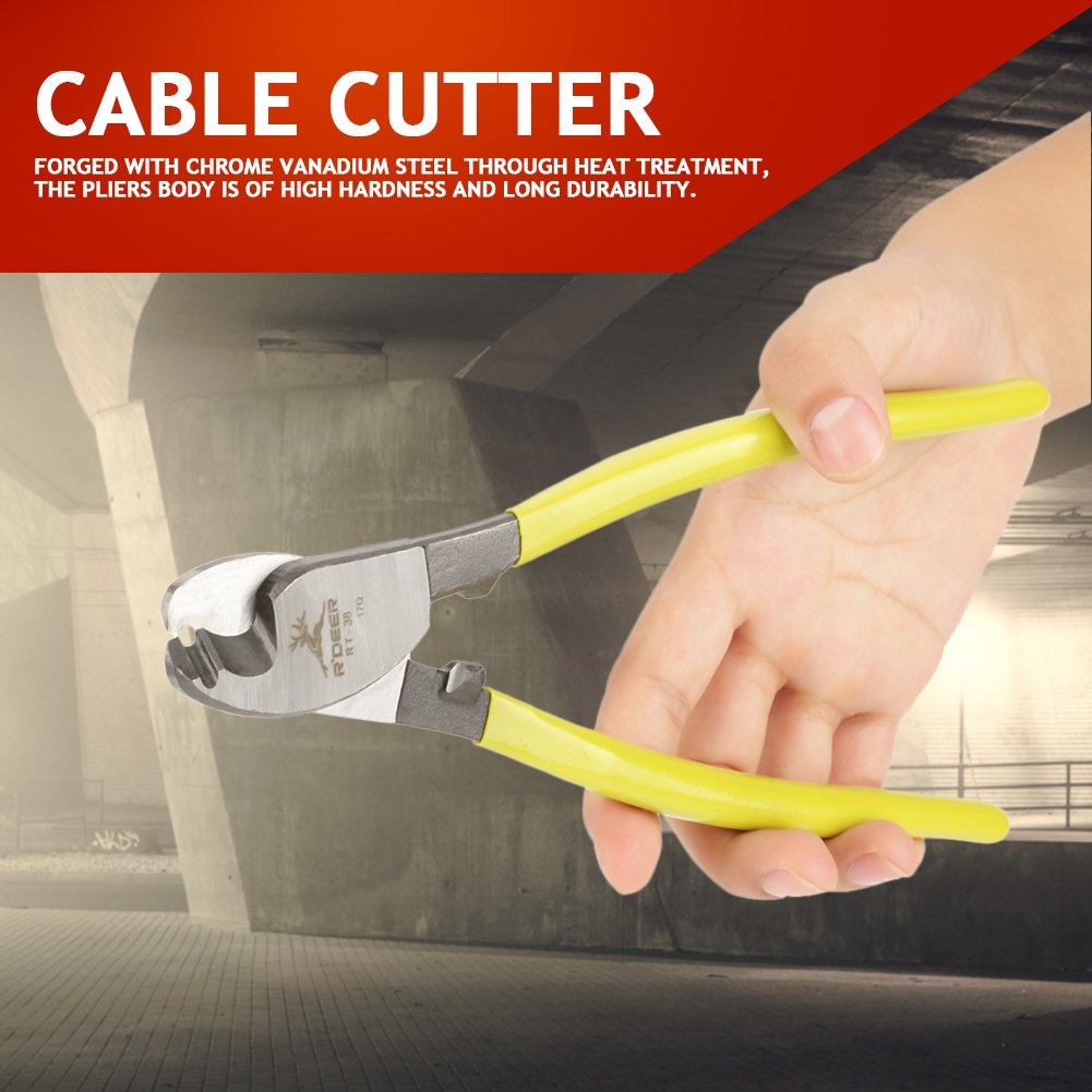 """etc IV Cables Wire Cutters,8/"""" Cable Cutting Pliers,Steel Stripper Wire Hand Cutting,with Anti-Slip Handle,for PE Soft Copper Wires Communication Cables"""