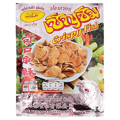 Tae Nguan Tai Brand, Crispy Fish with Sesame 160g by Tae Nguan Tai
