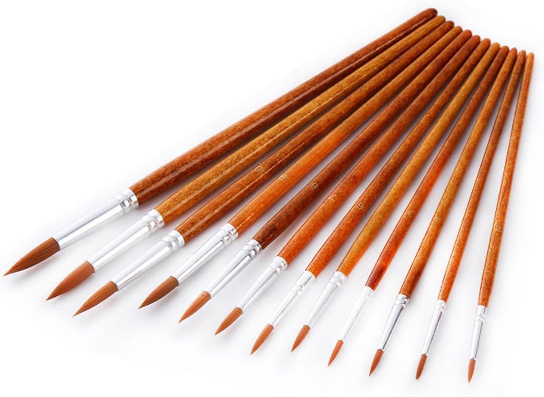 Künstler Pinsel Set 12pce Spitz Spitzen Dekorieren Farbe Bürsten