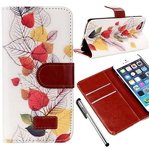 For 4.7'' iPhone 6, Urvoix(TM) Vintage Painting [Card Holder] [Flip Kickstand] Wallet Leather Case Cover for iPhone 6 (Not fit iPhone 6Plus)