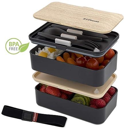Lunch Box ZEEBENTO - Fiambrera Japonesa con 2 Compartimentos ...