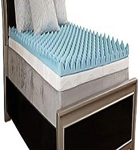 """Comfort Essentials 4"""" Gel Textured Memory Foam Topper, King"""