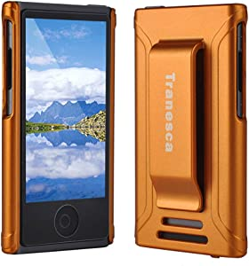 Tranesca Compatible with iPod Nano Protective case for Apple iPod Nano 7th & 8th Generation (Sunset Orange)