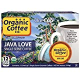 The Organic Coffee Co. OneCup Java Love (12 Count) Single Serve Coffee Compatible with Keurig K-cup Brewers USDA Organic Single Serve Coffee Pods, Compatible with Cuisinart, Bunn single serve brewers