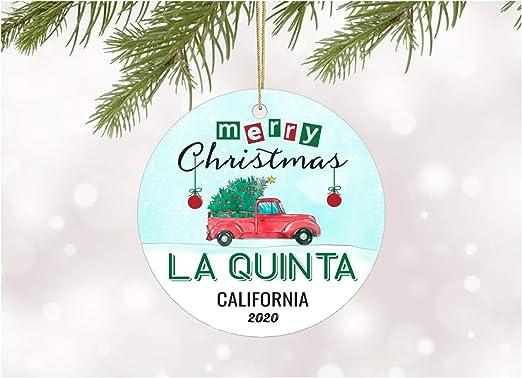 California Christmas 2020 Amazon.com: Funny Christmas Tree Ornaments 2020 La Quinta