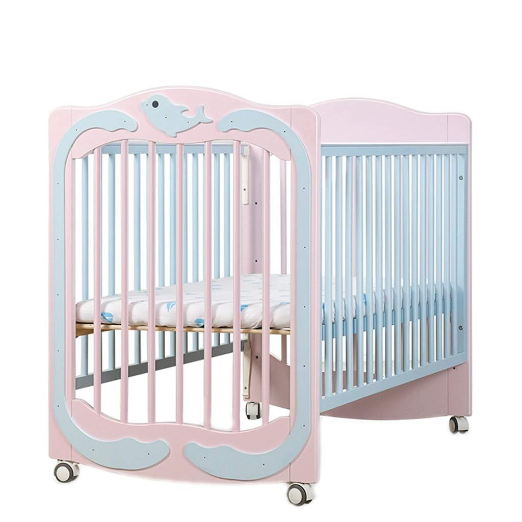 Babybett Babybett Multifunktions Solid Wood Spleiß Bett Kinderbett Bett Spiel Bett