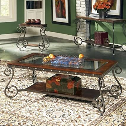 Genial Steve Silver Ellery Cocktail Table W Nailhead Trim Decor