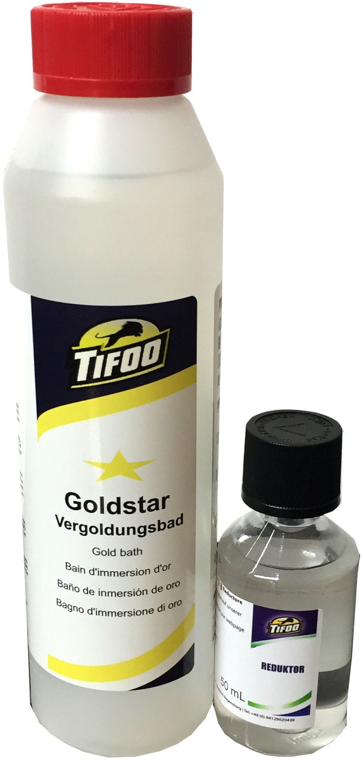 Gold-Star (250 ml) - Currentless Gilding, Alternative to Gold Electrolyte – Gold Plating Bath