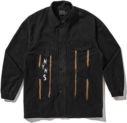 メンズデニムジャケット、100%コットンカジュアルフィットボタン、春の緩い手紙刺繍入りデニムジャケットボタンカフ棒調節可能な側面トップ