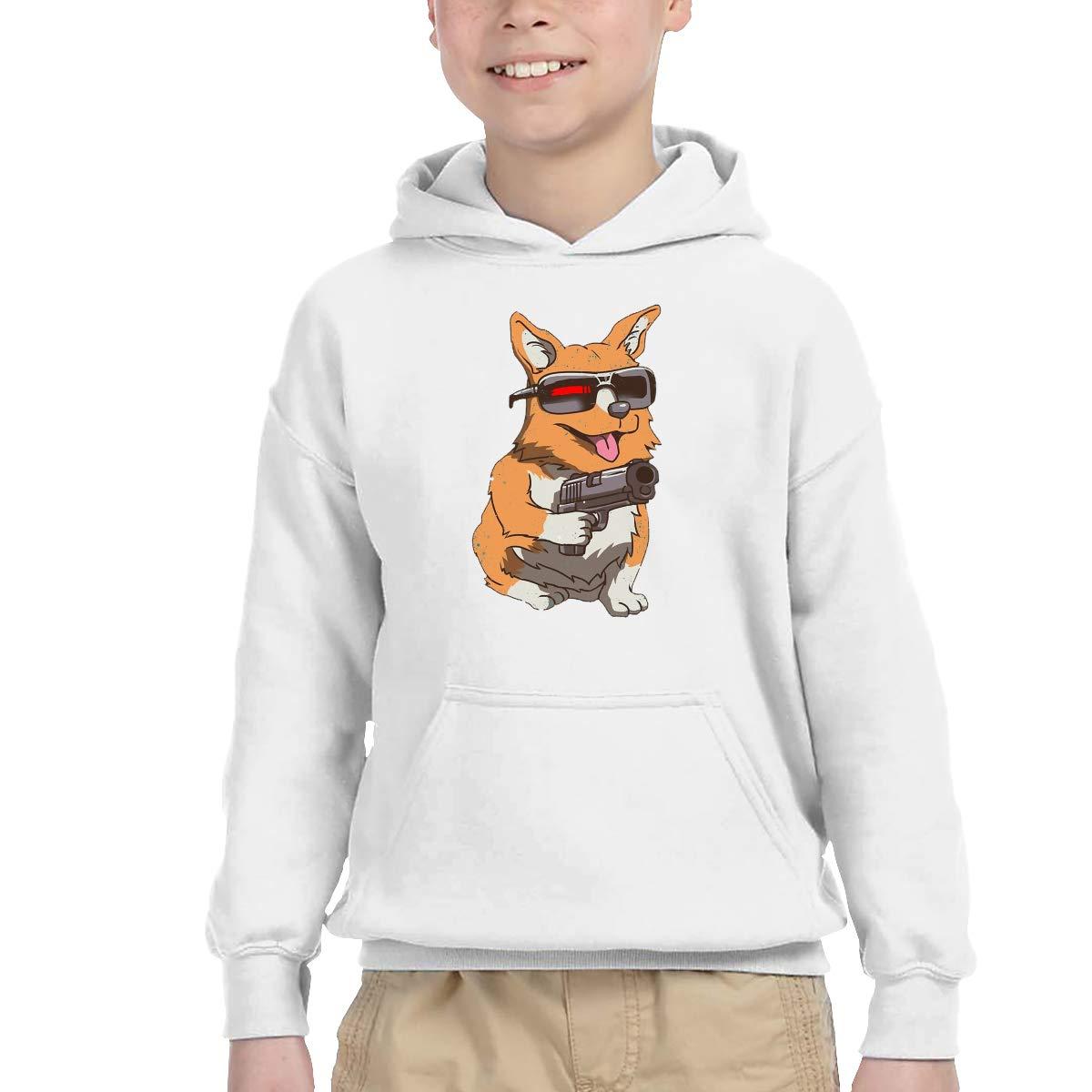 ShenigonCorginator Pullover Hoodie Sweatshirt Teens Hooded for Boys Girls