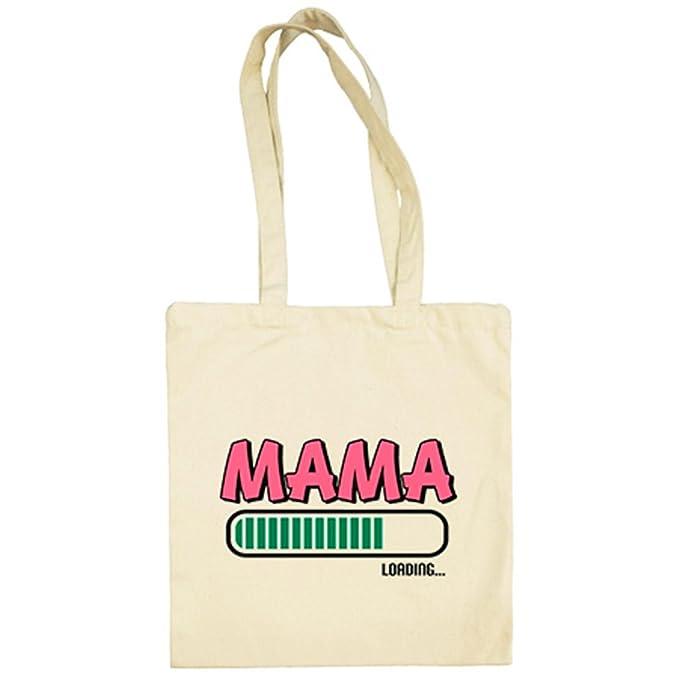 Bolsa de tela Mamá Loading regalo embarazada - Beige, 38 x ...