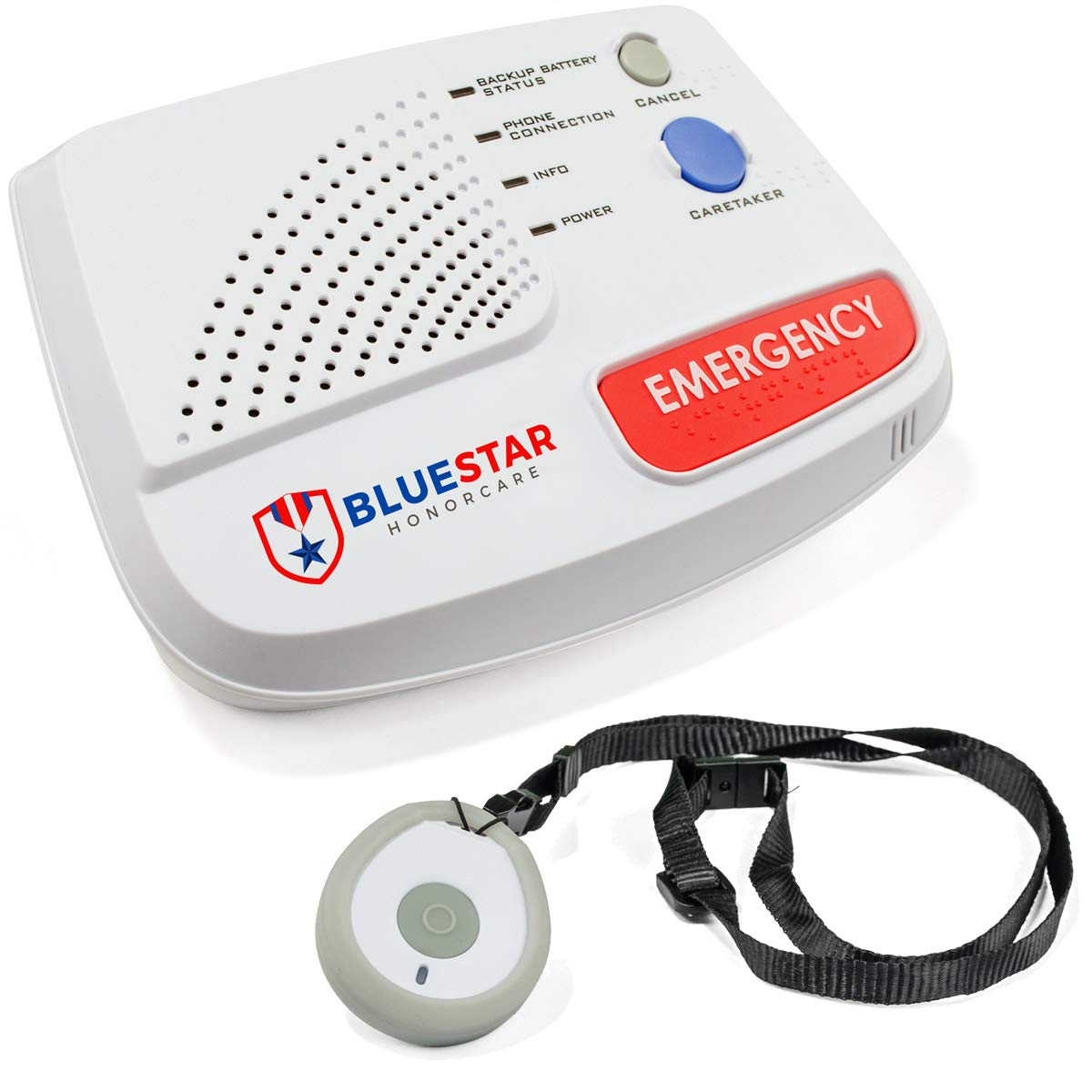 Sentry in-Home Medical Alert by BlueStar SeniorTech | Emergency Safety System for Seniors | 24/7 Monitor Response | One-Touch Help Button (Includes One Month Free) by BlueStar SeniorTech