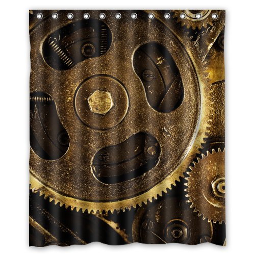 Gear steampunk picture Shower Curtain 60 x 72 Inch Bathroom