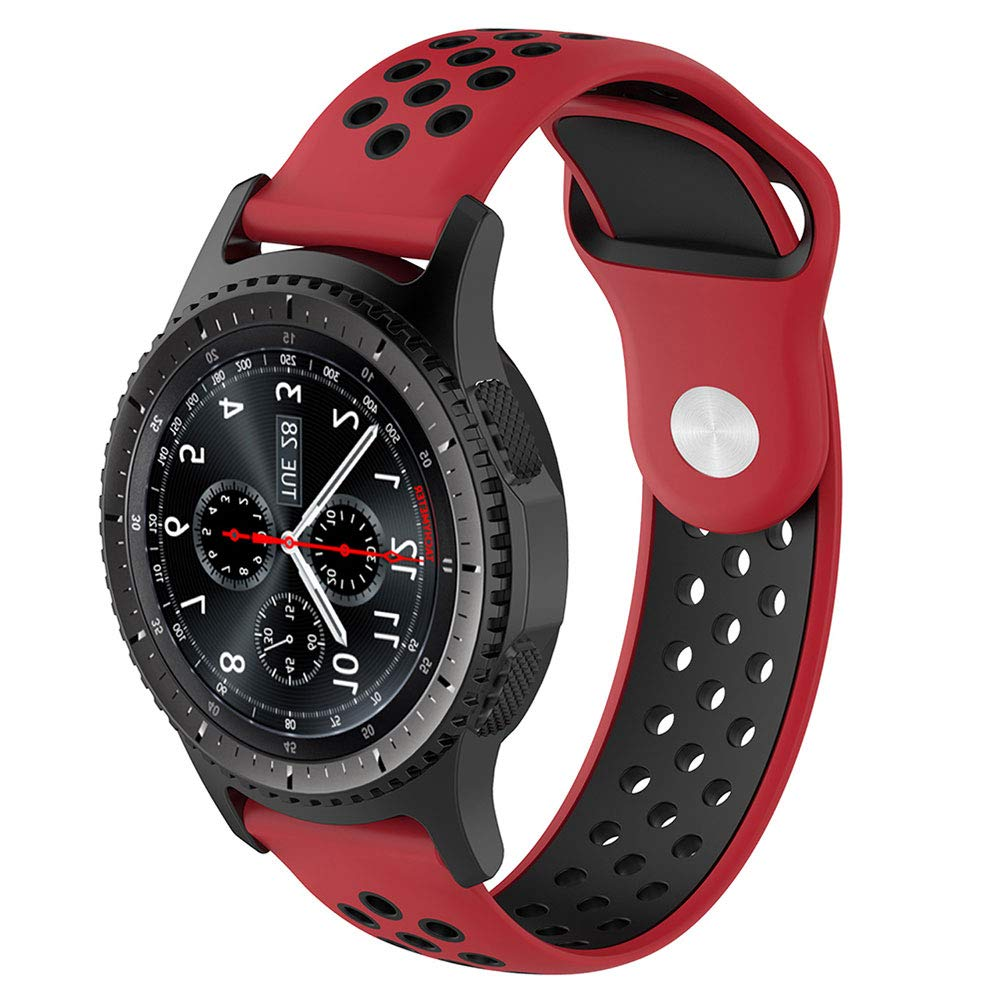 Willibill Gear S3 Bands Soft Silicone Replacement for Band Samsung Gear S3 Frontier/Classic Smart Watch/Huawei Watch 2 Classic Smartwatch ...