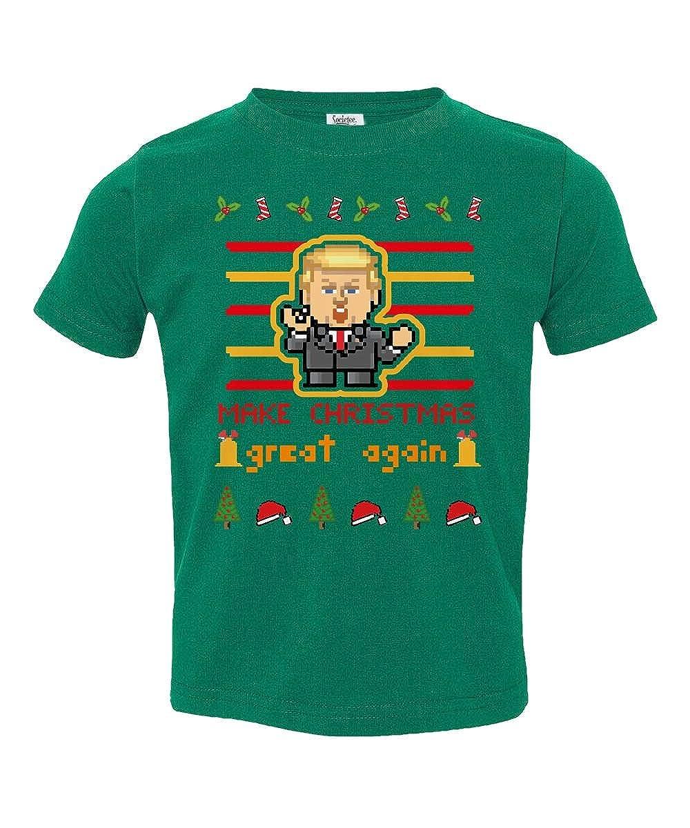 Societee Donald Trump Ugly Christmas Funny Little Kids Girls Boys Toddler T-Shirt