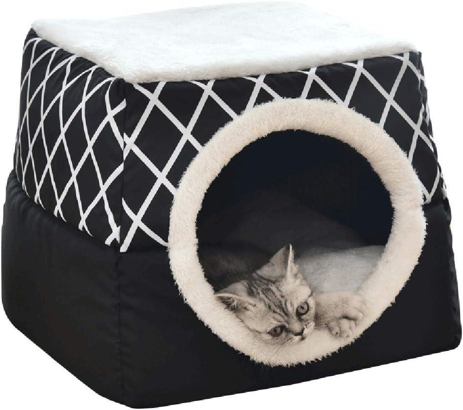 Kolylong/® Hundebett Katzenbett Hundeh/öhle Hundeh/ütte Tragbar Faltbare Hund Zimmer Katzenh/öhlen Haustier Haus und Sofa Geometrisch Hundedecke Haustierbett Zwingermatten