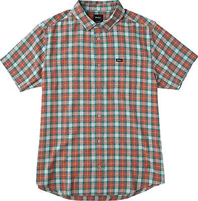 RVCA Men's Thatll Do Plaid 3 Short Sleeve Woven Shirt