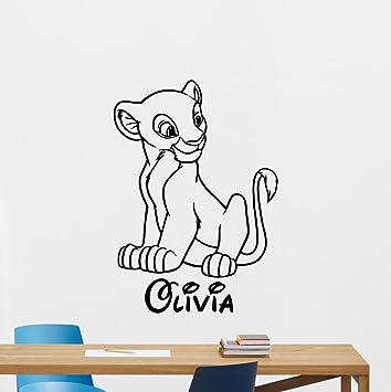 Personalized Name Lion King Wall Decal Nala Simba Custom Name Disney  Cartoons Vinyl Sticker Simba Timon Pumbaa ...