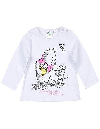 637b65c2196c2 Winnie l ourson T-Shirt Manches Longues bébé Fille et Porcinet Blanc de 3 à  24mois  Amazon.fr  Vêtements et accessoires