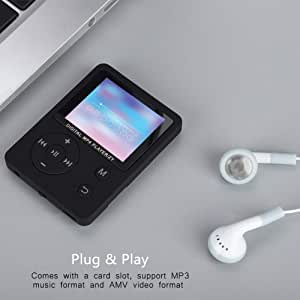 User-Friendly MP3/MP4 Color Screen, Portable MP3, for Music, Radio, Recording, Video, e-Book, Built-in Stopwatch(Black)