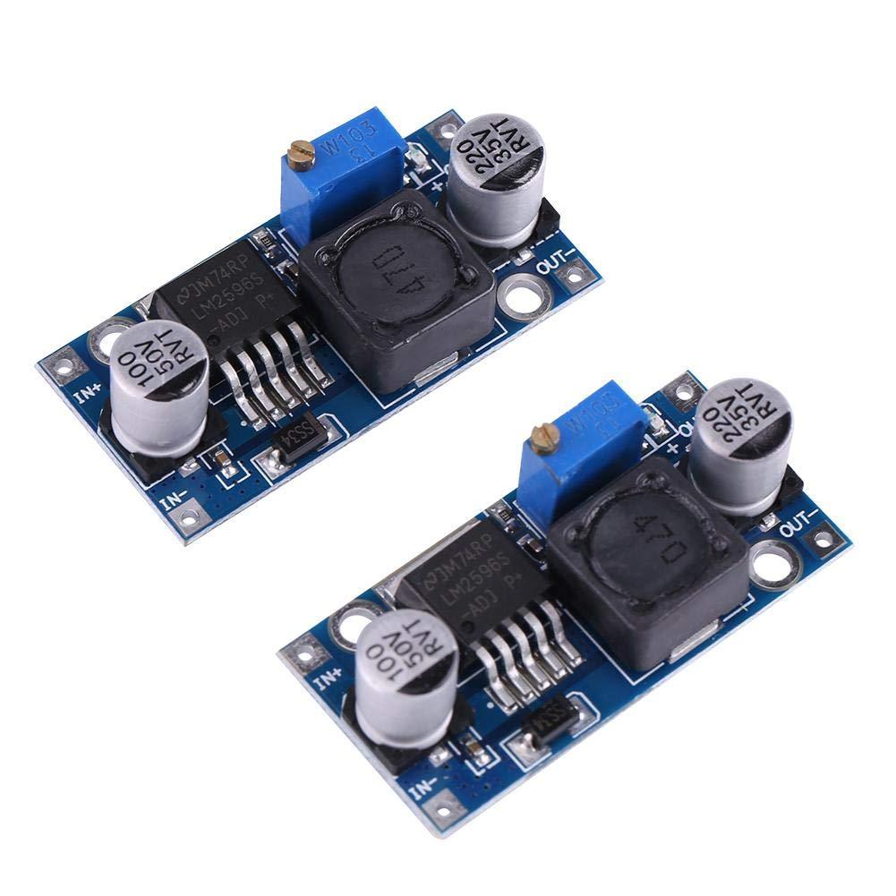 Furnoor Buck Module Modules DAlimentation Gradables Ajustables CC-CC 3.2V ~ 35V /à 1.25V ~ 35V 3A 2pcs