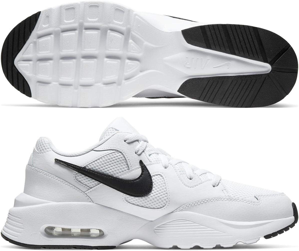 NIKE NIKE AIR MAX FUSION heren hardloopschoen wit/zwart/wit.