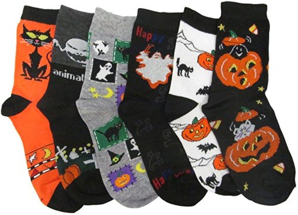 Kids Halloween 6-Pair/Pack Crew Socks