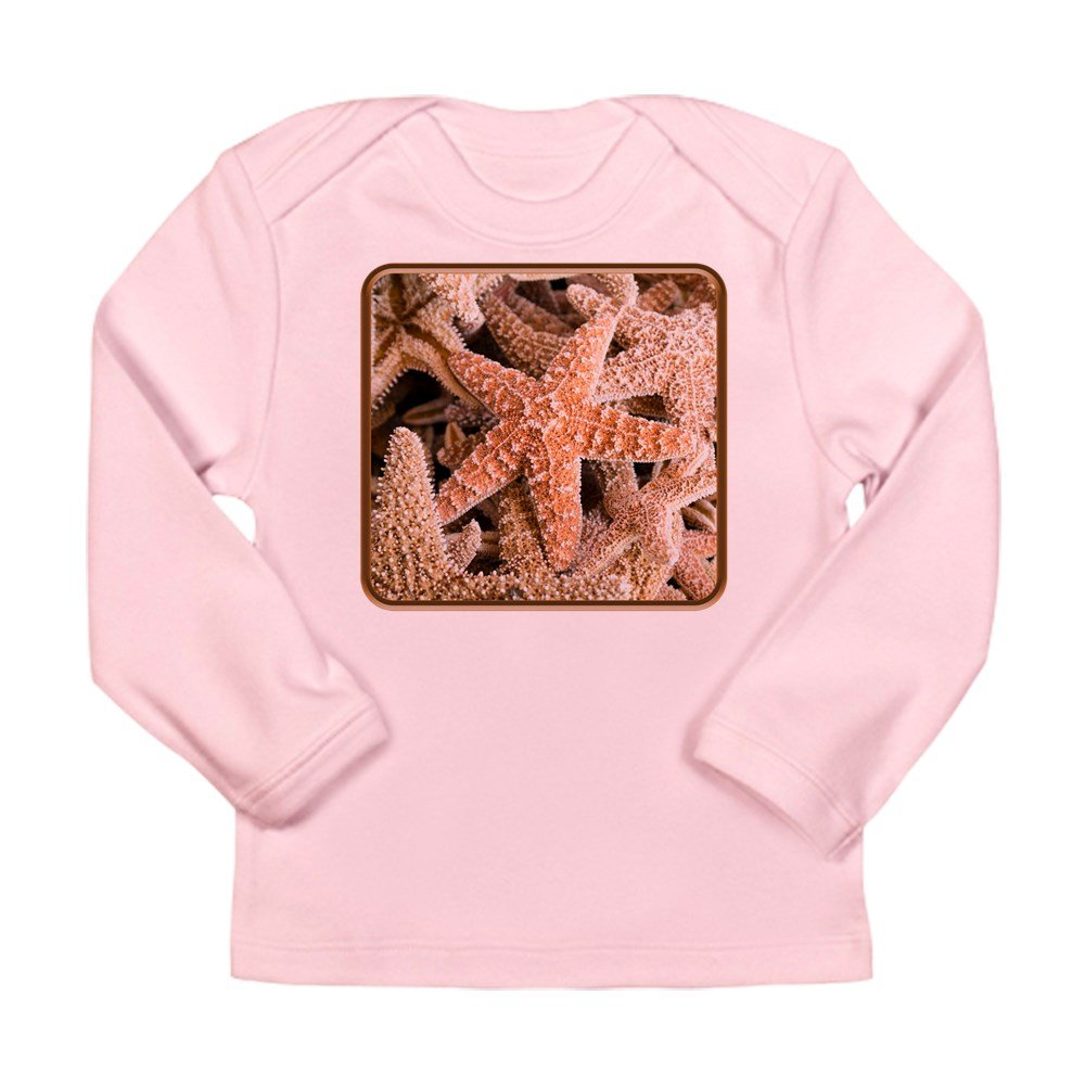 18 To 24 Months Truly Teague Long Sleeve Infant T-Shirt Collection Of Starfish Petal Pink
