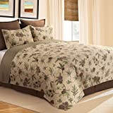 C&F Home Woodland Retreat Pinecone Cotton Twin 2 Piece Quilt Set Twin 2 Piece Set Tan