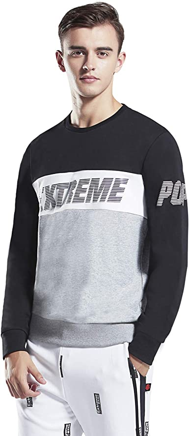 TALLA XL. Extreme Pop Mens Classic Crew Sweatshirt Contrast Panels Jumper UK Brand