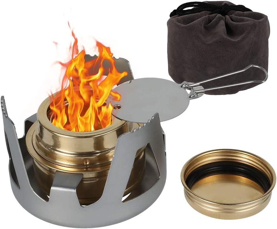 R/échauds de Camping /à Gaz Portable,Batterie de Cuisine de Camping Ultral/ég/ère pour Camping en Plein Air Randonn/ée,Barbecue,Pique-Nique