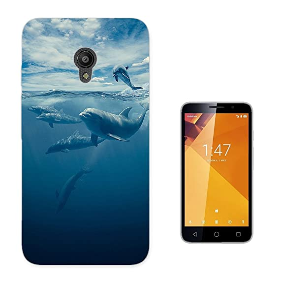 c01137 - Cool Swimming Dolphins Design Vodafone Smart Turbo 7 Fashion Trend CASE Gel Rubber Silicone